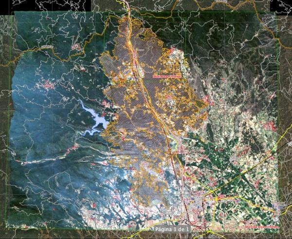 Un document inèdit fins ara: el mapa del satèl·lit militar que els bombers van utilitzar durant les tasques d'extinció