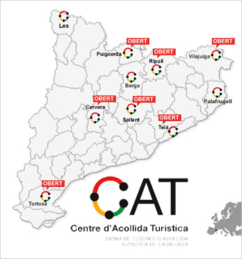 Mapa de CAT on es veuen els CAT's
