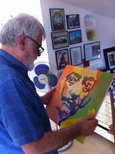 El mirall. Pintor mira a pintor. Ministral davant un retrat de Dalí.