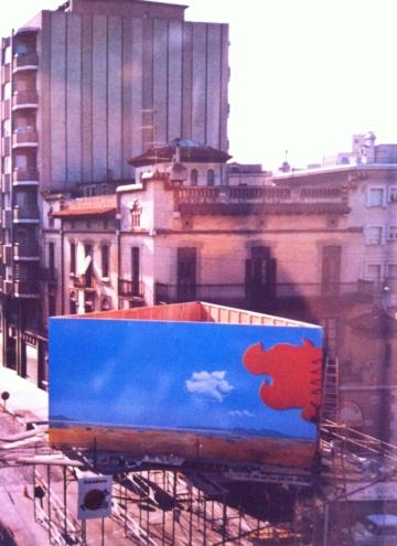 La bastida a la Plaça de la Palmera (1984).