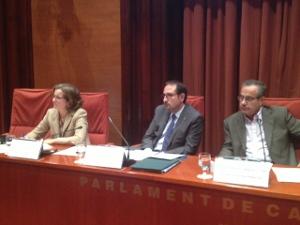 Ramon Espalader, compareixent en comissió al Parlament