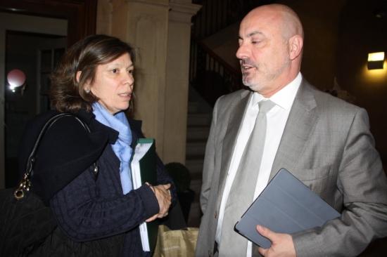 Xavier Sanllehí i el seu Ipad