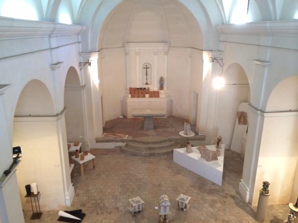Vista de l'interior de l'Esglèsia parroquial de l'Estrada, a Agullana