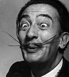 Salvador Dalí, amb cara de xupar llimones, el 1954. FOTO: Philippe Halsman