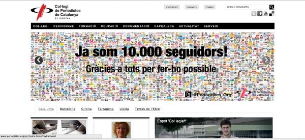 Portal del Col·legi de Periodistes de Catalunya