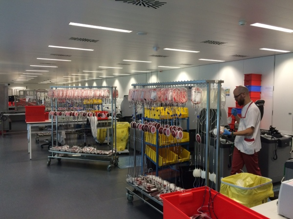 Instal·lacions del Banc de Sang i Teixits, al barri del Poble Nou de Barcelona